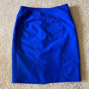 Worthington Zippered Back Blue Skirt